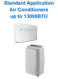 Standard Application Air Conditioners up to 13000BTU